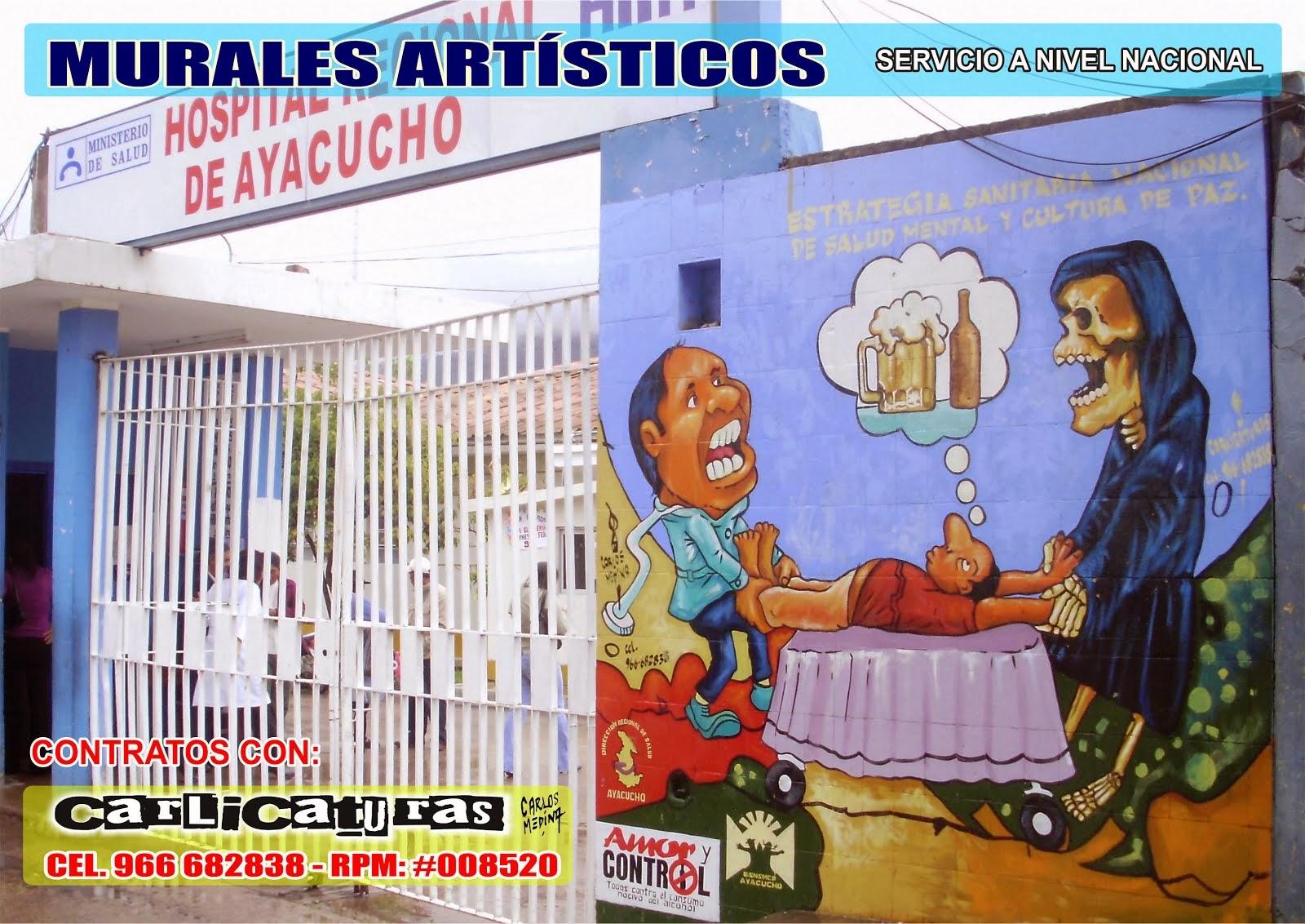 PINTURA MURAL EN EL HOSPITAL REGIONAL DE AYACUCHO