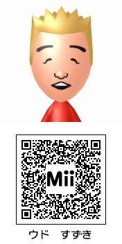 ウド鈴木(キャイ~ン)のMii QRコード トモダチコレクション新生活