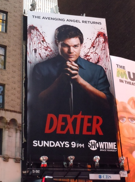 Dexter season 6 billboard NYC