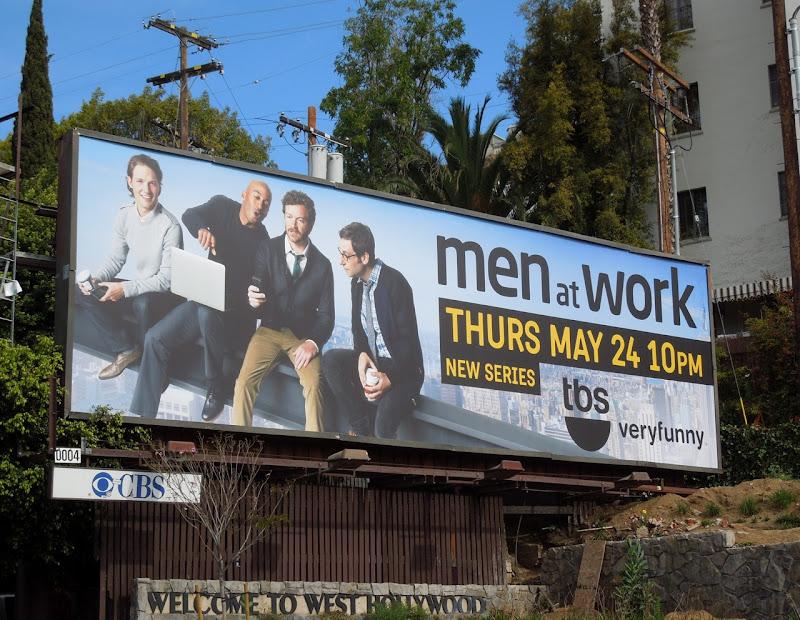 Men at Work TBS billboard