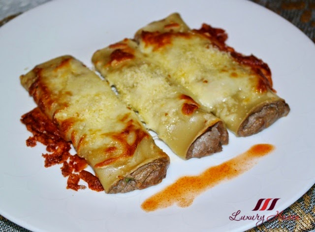 baked granoro cannelloni with foie gras mushrooms recipe