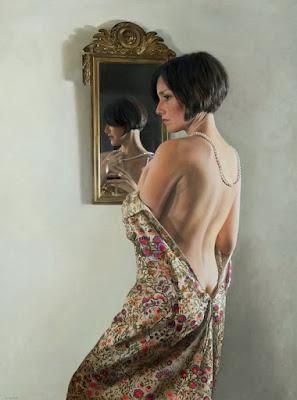 Retratos Mujeres Pintados De Espalda