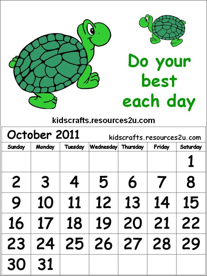 October Calendar Art : Printable october calendar clip art