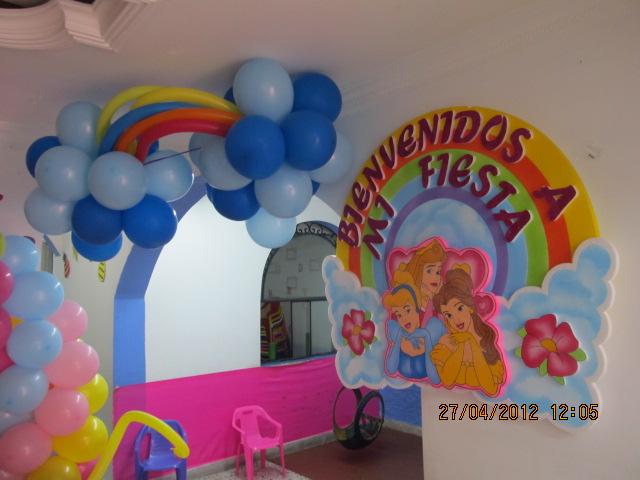 Decoracion con globos para fiestas infantiles de princesas - Decoracion fiestas tematicas ...