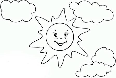 раскраска картинка солнце
