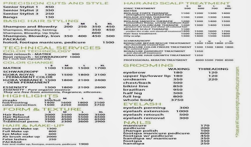 Hair coloring service price list cleaning service price list hair salon price list gifts hair salon price list gift ideas on blank price list template cleaning service price list template pronofoot35fo Images