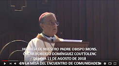 VIDEO DE LA HOMILÍA DEL SR. OBISPO, DEL DÍA  11 DE AGOSTO DE 2018