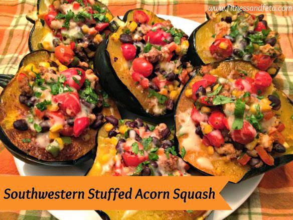 Fall Favorite! Southwest Stuffed Acorn Squash