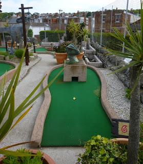 Jurassic Adventure Golf at the Santa Fe Fun Park in Swanage, Dorset