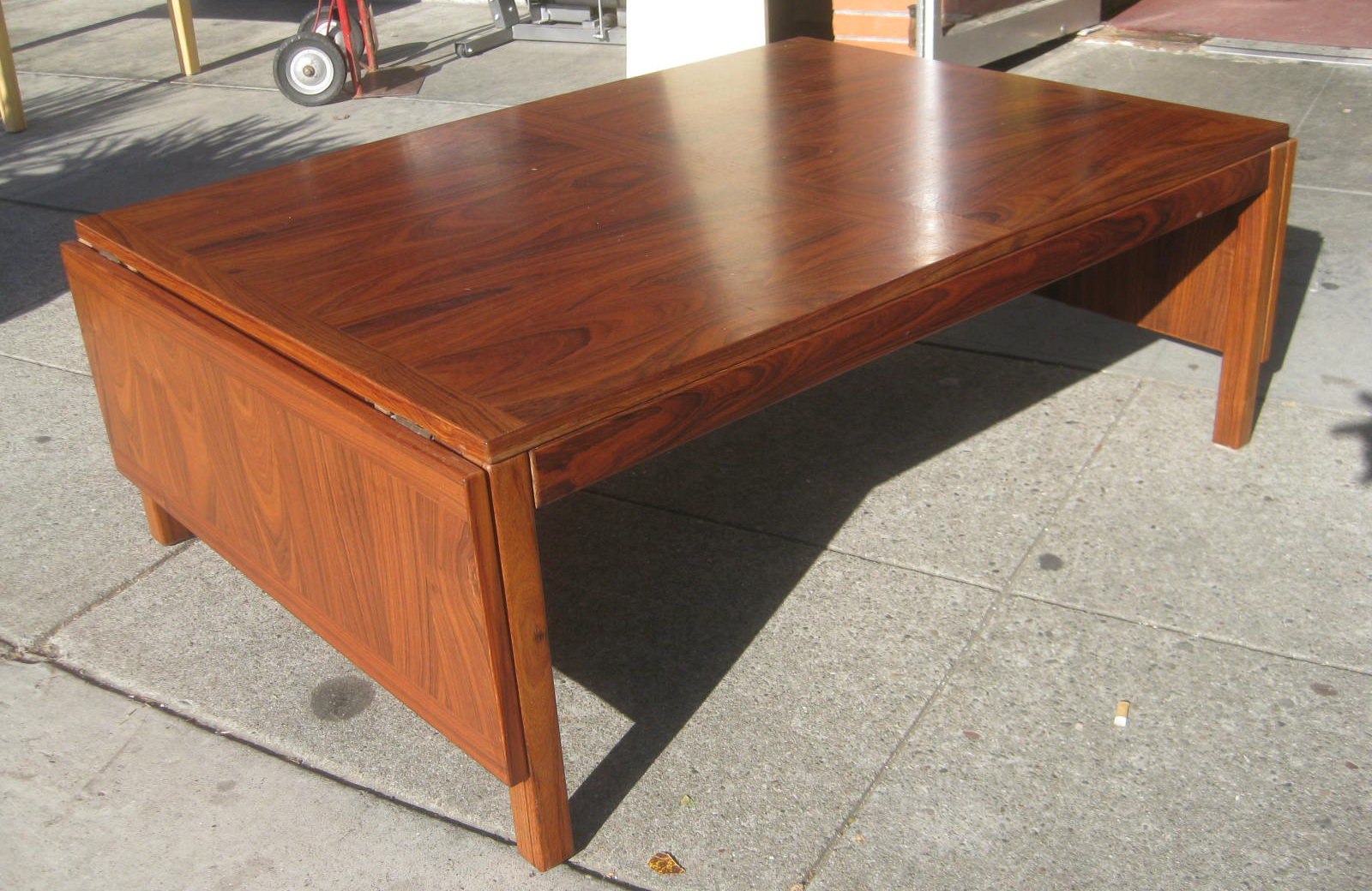 Uhuru Furniture Collectibles Sold Teak Drop Leaf Coffee Table 75