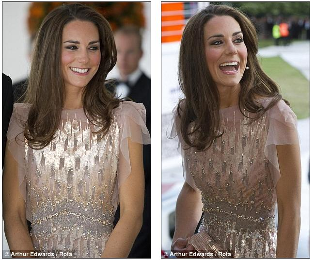 The Duchess dazzles: Kate and William bring a touch of glamour to charity gala