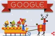 Google desea Felices Fiestas con un doodle animado