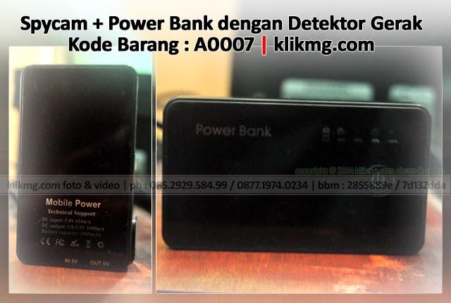 Spycam + Power Bank dengan Detektor Gerak - Kode Barang : A0007