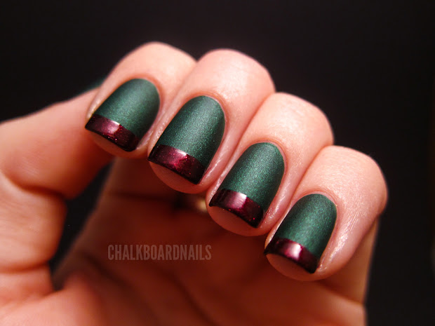 holiday french tips chalkboard