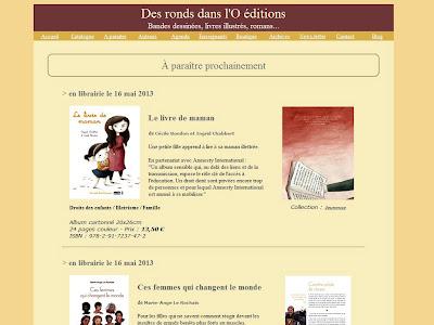 Prochaines parutions - Editions Des ronds dans l'O (voir la page)