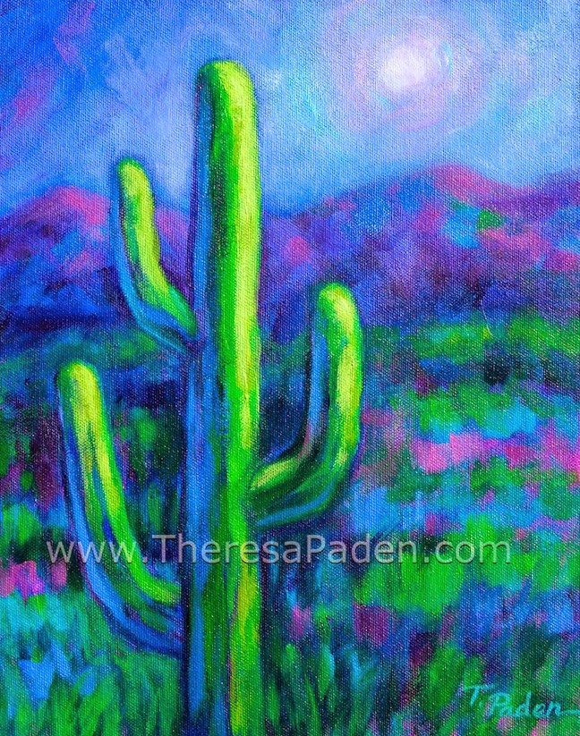 daily painters abstract gallery colorful southwest cactus