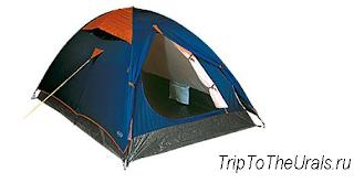 Пример треккинговой палатки полусферы