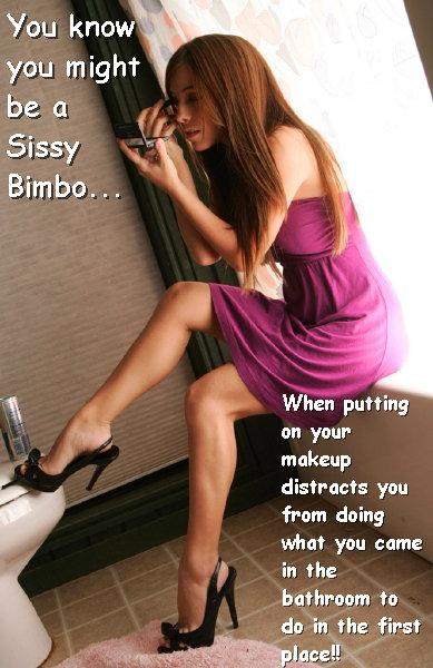 Sissy Bimbo: Bathroom Distractions