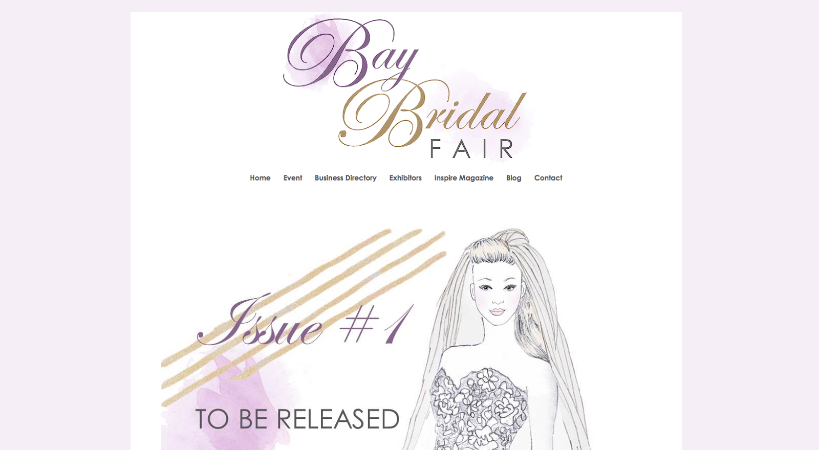 sail and swan logo rebrand bay bridal fair watercolour