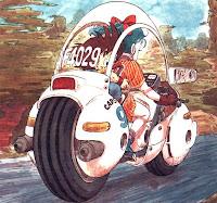 IMAGEM: Moto de Bulma no desenho Dragon Ball Z
