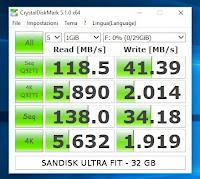 test-velocità-sandisk-ultra-fit