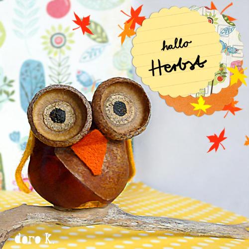 My owl barn diy acorn owls - Acorn and chestnut crafts ...