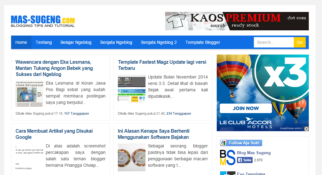 Free Download Mas Sugeng 2015 Blogger Template SEO