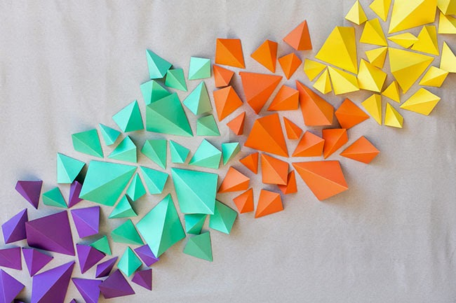 DIY. Fondo Geométrico de Colores.