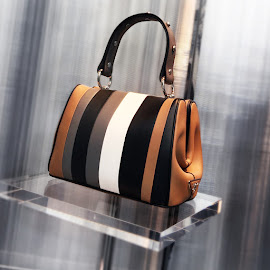 caramel + black + marble gray leather Prada Frame Bag