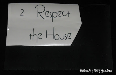Vinyl Family Rules Cork Board