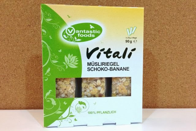 Vantastic Foods - Vitali Müsliriegel - Schoko Banane (chocolate banana vegan cereal bar)