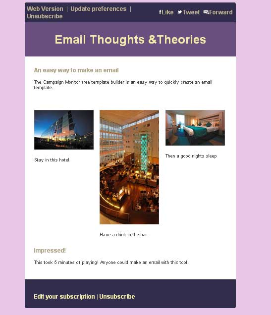 Email thoughts theories campaign monitor free email for Www campaignmonitor com templates