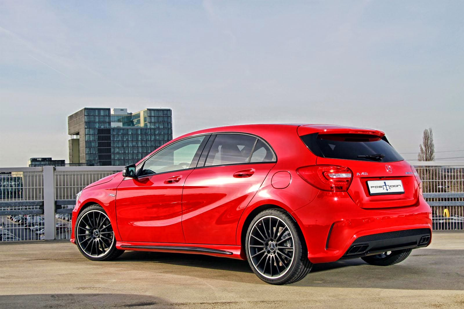 Mercedes benz w176 a45 amg by posaidon benztuning for Mercedes benz red