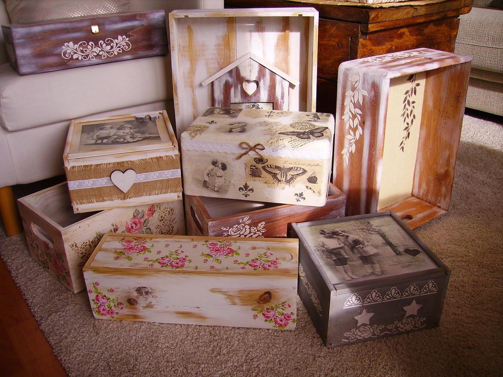 Como pintar cajas estilo vintage - Bancos estilo vintage ...
