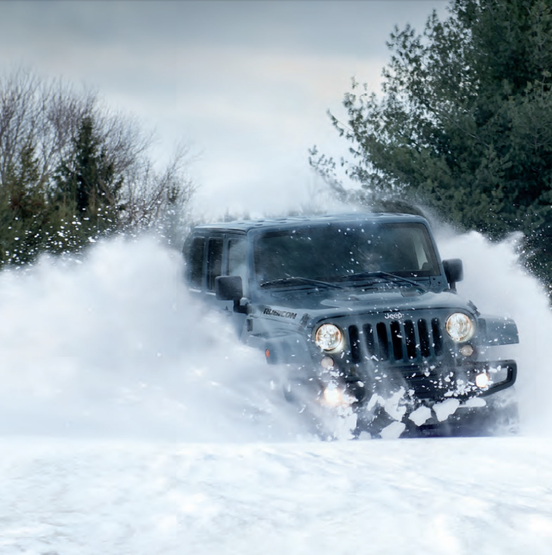 Driving jeep wrangler in winter #4