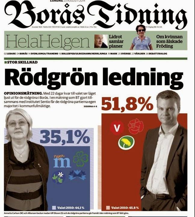 Boråsarna gillar rödgrön politik och ger oss egen majoritet