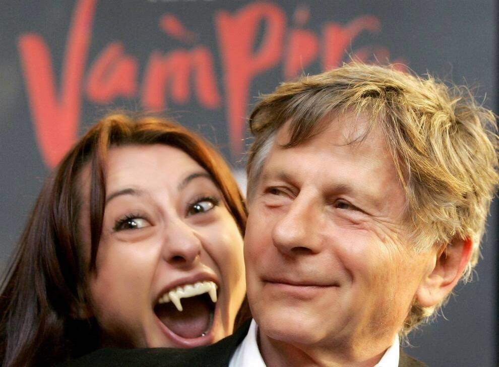 Полански позирует с актрисой