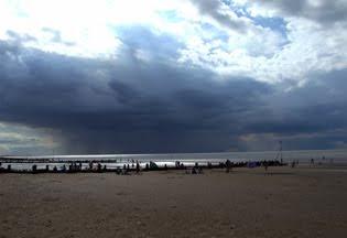 An Norfolk beach in a 21st century summer