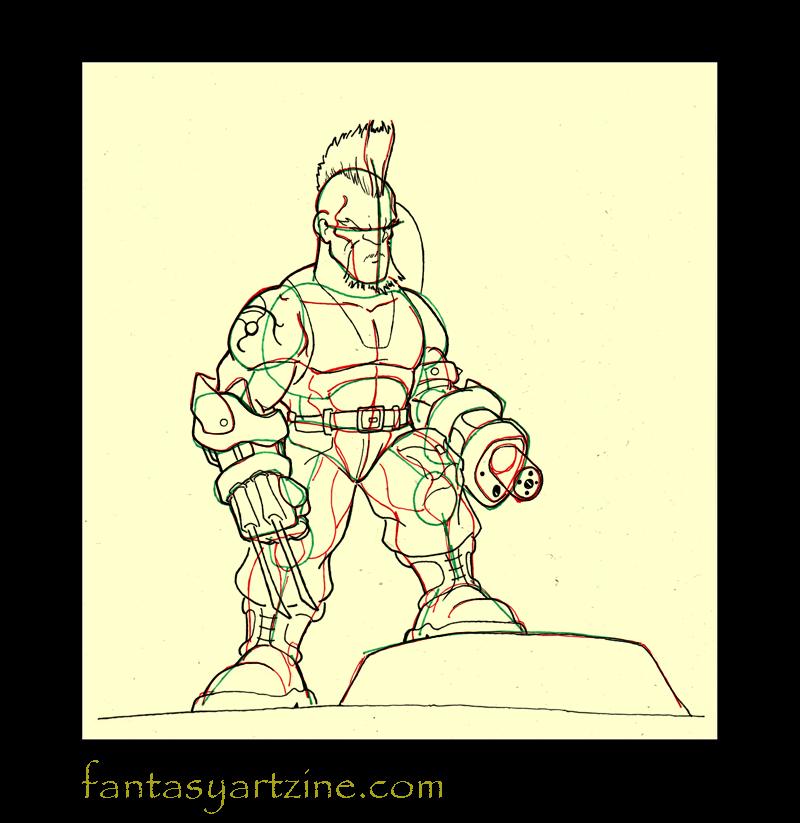 comment dessiner un samourai