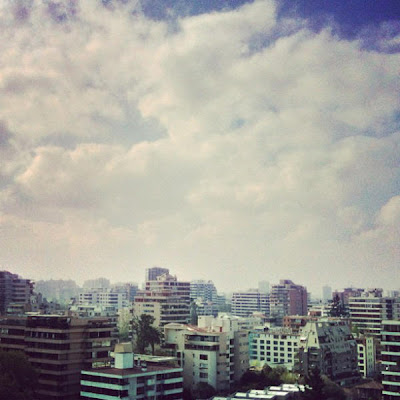 iPhoneography: October 5 2012 Selection, pablolarah,Pablo Lara H,blue morning, buildings,santiago de chile