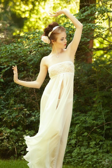luxury lingerie cotton nightgown chemise wedding