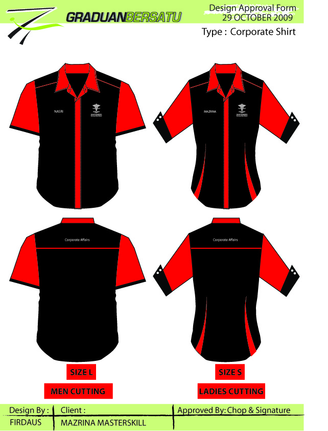Everything Here To Create Your Identity Contoh Design Baju Korporat