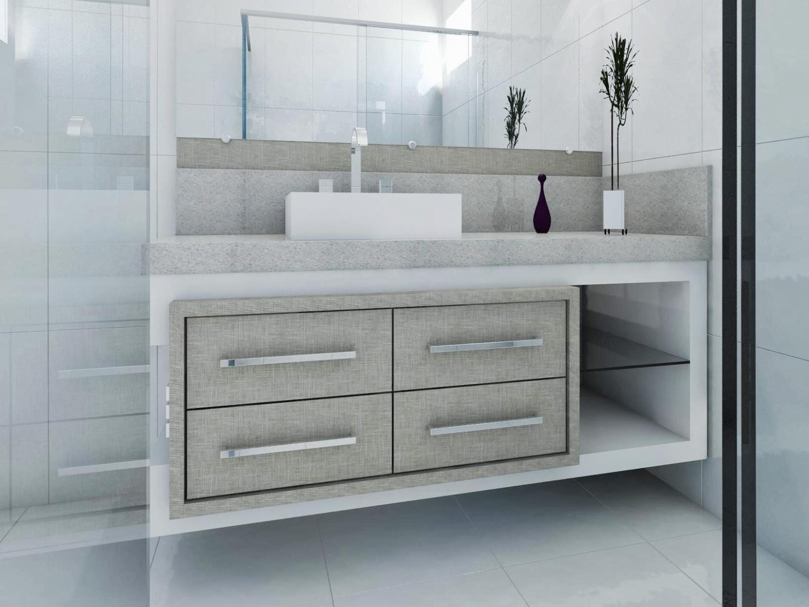 Móveis Maderson: Banheiros modernos! Faça o seu ! #505B60 1600 1200