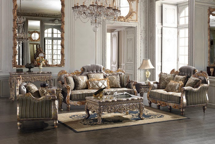 Ev dekorasyonu klasik salon tak mlar for Exclusive living room furniture