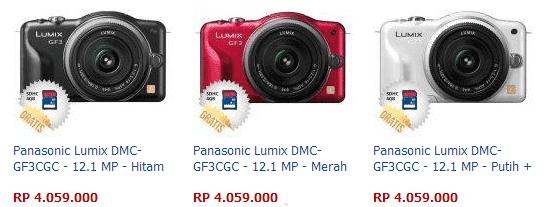 Harga Kamera Panasonic Lumix DMC-GF3WGC