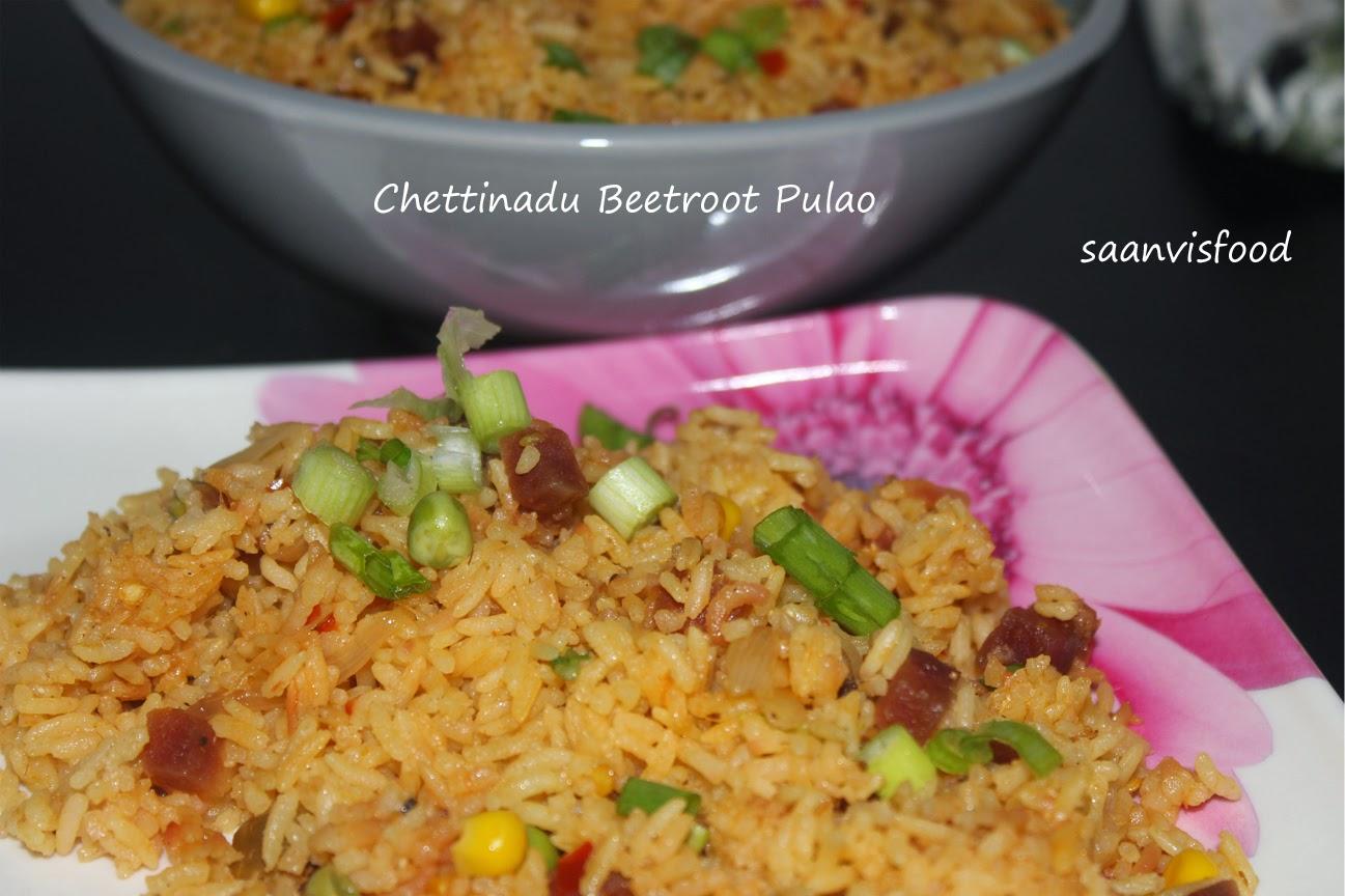 Chettinadu Style Beetroot Pulao