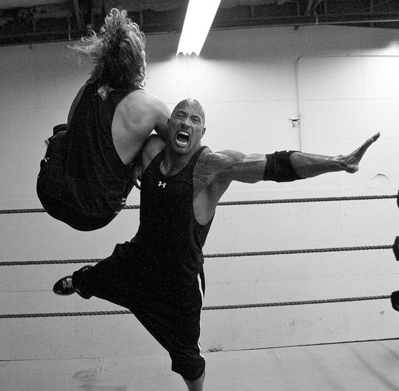 wwe survivor series 2011 the rock is training hard for