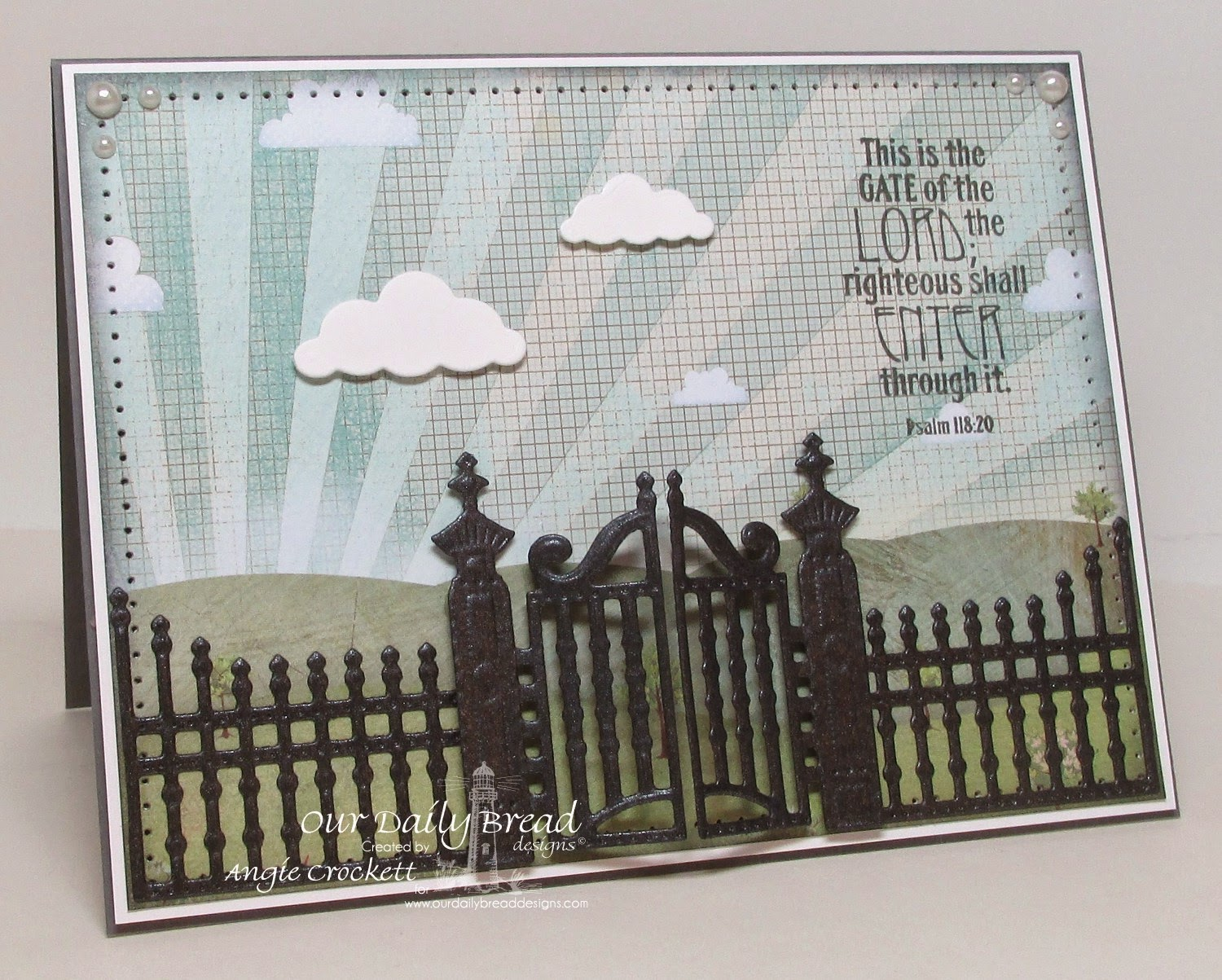 Our Daily Bread designs The Gate, ODBD Custom Gilded Gate Die, Card Designer Angie Crockett
