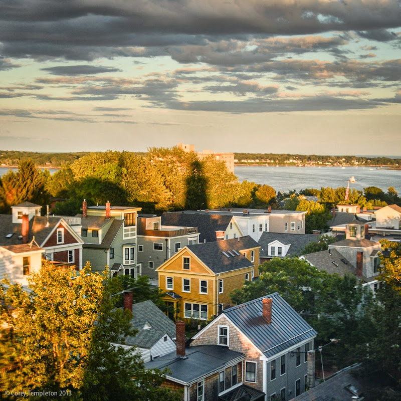 Portland Observatory on Munjoy Hill in Portland, Maine. Photo by Corey Templeton.
