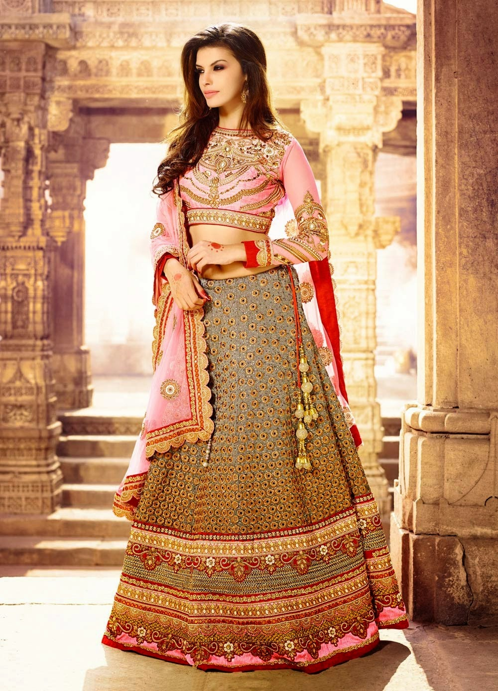 Buy bollywood replica sarees salwar kameez lehenga choli for Design wedding dress online